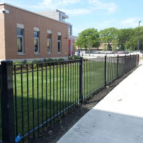 commercial fencing sample for when seeking the best fence contractors in Cedar Lake