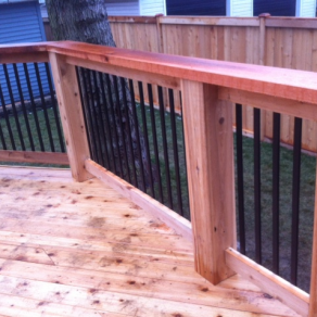 deck railing detail image for fence companies in Lemont