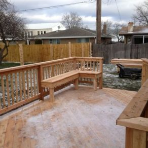 custom design deck build by skilled fence contractor in Chicago Heights