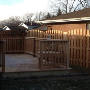 wood deck and fence installed by skilled fence contractor in New Lenox