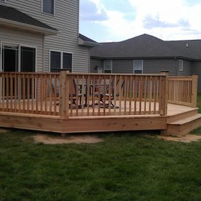 quality deck install concept, contact our skilled fence and deck installation company in Tinley Park