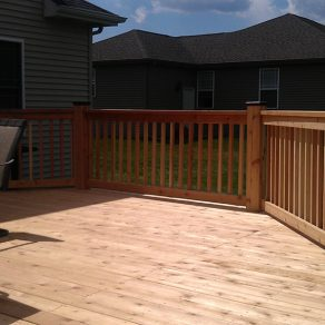 custom deck installs by Orland Park fence and deck contractors