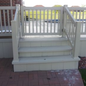 stairs to deck gate concept if needing solutions to enclose your pool contact experienced Fence contractors in Munster