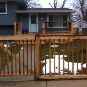 wooden perimeter fencing installed by a skilled NWI Fence builders