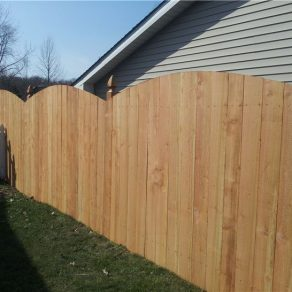 wood fencing with detail increases your home value, contact skilled Joliet fence contractor