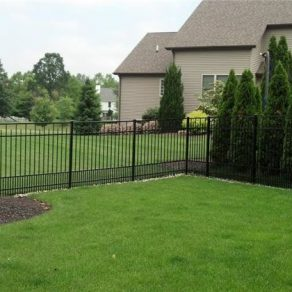 metal fencing option for when needing to enclose your backyard with Orland Park Fence and Gate company