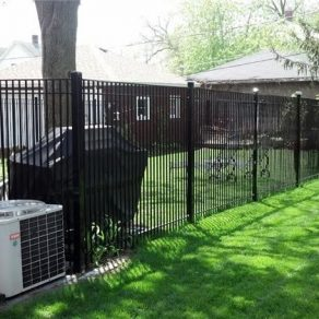 tall iron fence concept for when looking up fence contractors in New Lenox