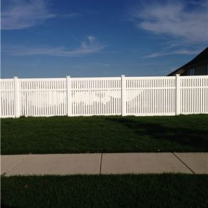 tall pvc fence image for when seeking a good fence contractor in Lemont