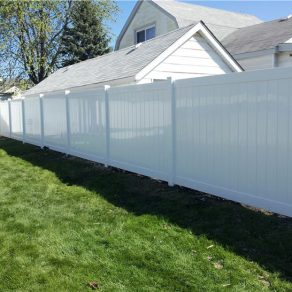 white pvc fence and gate concept when needing a Schererville Fence installation company