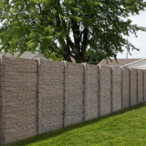Stone like fencing with full privacy, if looking for affordable fence installers Lockport.