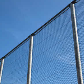 Tall chain link fence completed by top rated fence company Chicago Heights.