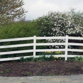Long farm fencing with corner landscape, if looking for affordable fence installers Merrillville.