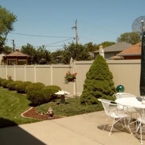 New vinyl privacy fence, if looking for affordable fence installers St. John, IN.