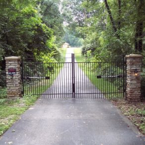 Private gate entry to home, if looking for affordable fence builders New Lenox.