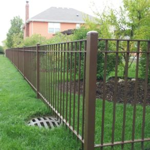 A professionally installed wrought iron fence, if looking for affordable fence builders Mokena.