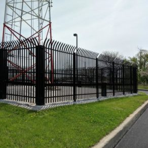 project picture at industrial site installed by skilled Chicago Heights Fence installation company