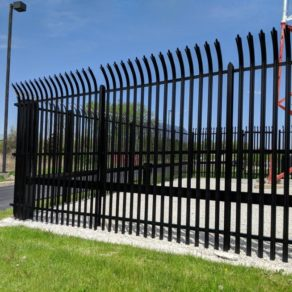 Wrought Iron fence example of project completed by top South Holland fencing contractor.