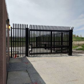 Special automated gate built by great fence company in Joliet.