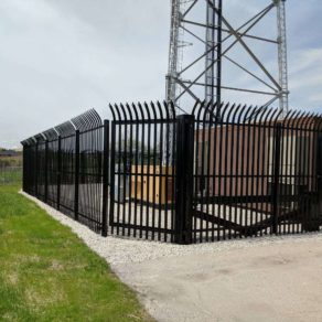 Fence style at work site completed by Mokena Fence company.